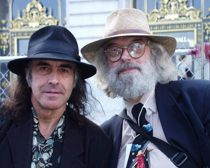 Pete Sears and Chet Helms.  Article from Haight Street Music News - 2005