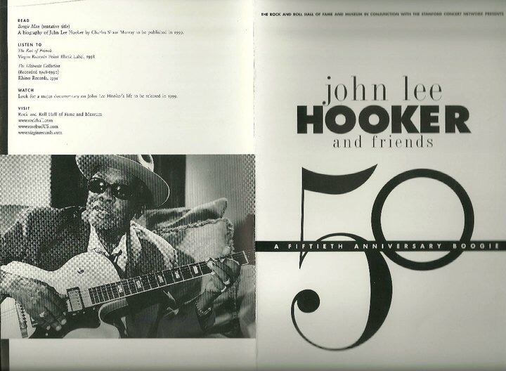 1998. The Rock & Roll Hall of Fame Tribute Concert - John Lee Hooker & Friends.