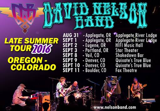 David Nelson Band - Late Summer Tour 2016