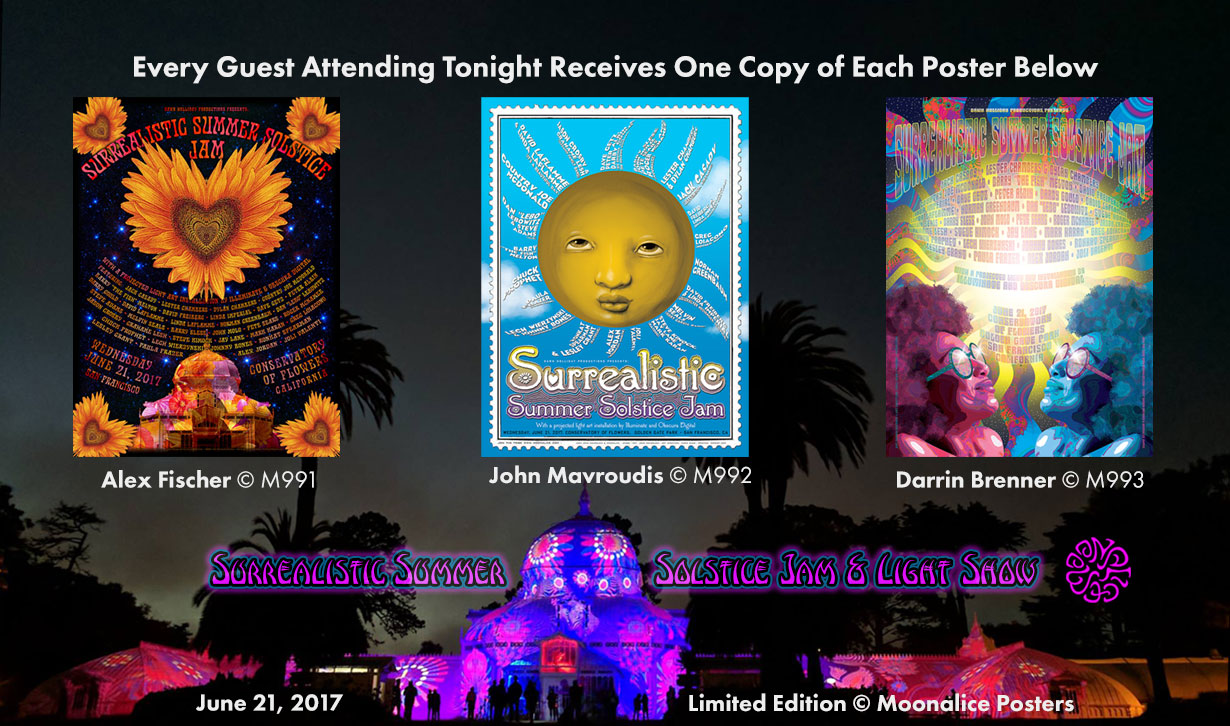 6/21/17 Surrealistic Summer Solstice Jam at Conservatory of Flowers, San Francisco, CA