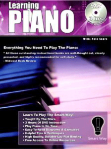 Learn Piano with Pete Sears - Learning Piano the Smartway! Dual DVD & Book